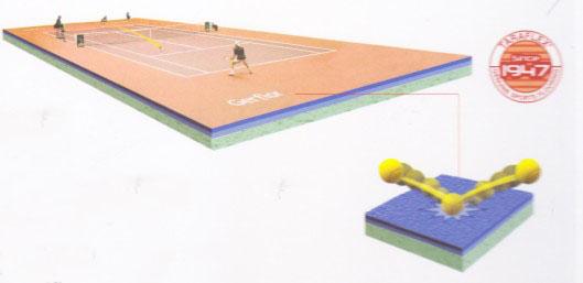 专业网球运动地板结构图
